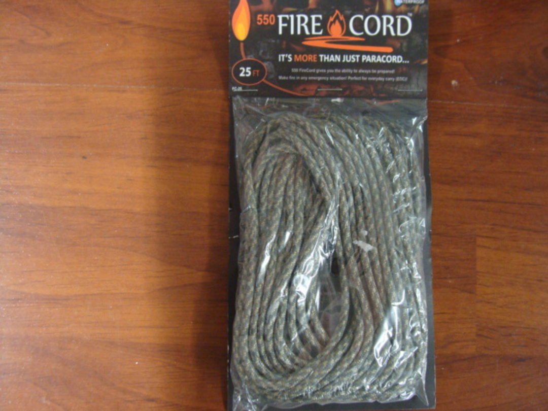 550 Fire Cord / Firecord 25ft - Digital Camo image 0