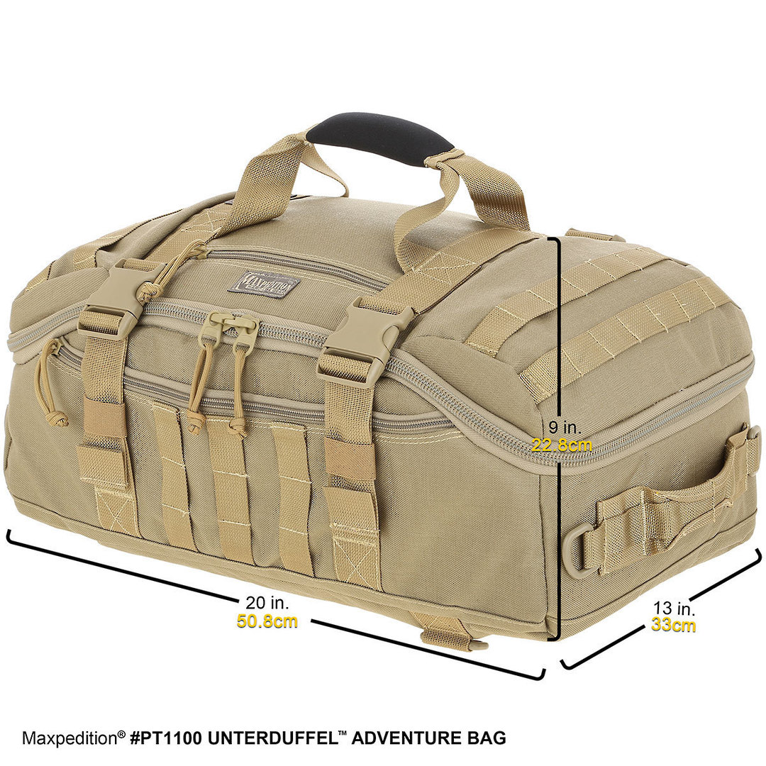 Maxpedition Unterduffel Adventure Bag - Khaki image 1