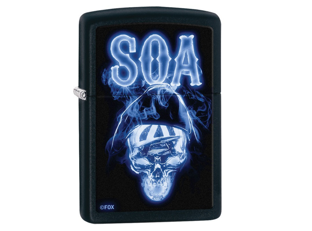 Zippo Sons Of Anarchy, Ghostly Reaper Black Matte 29317 image 0