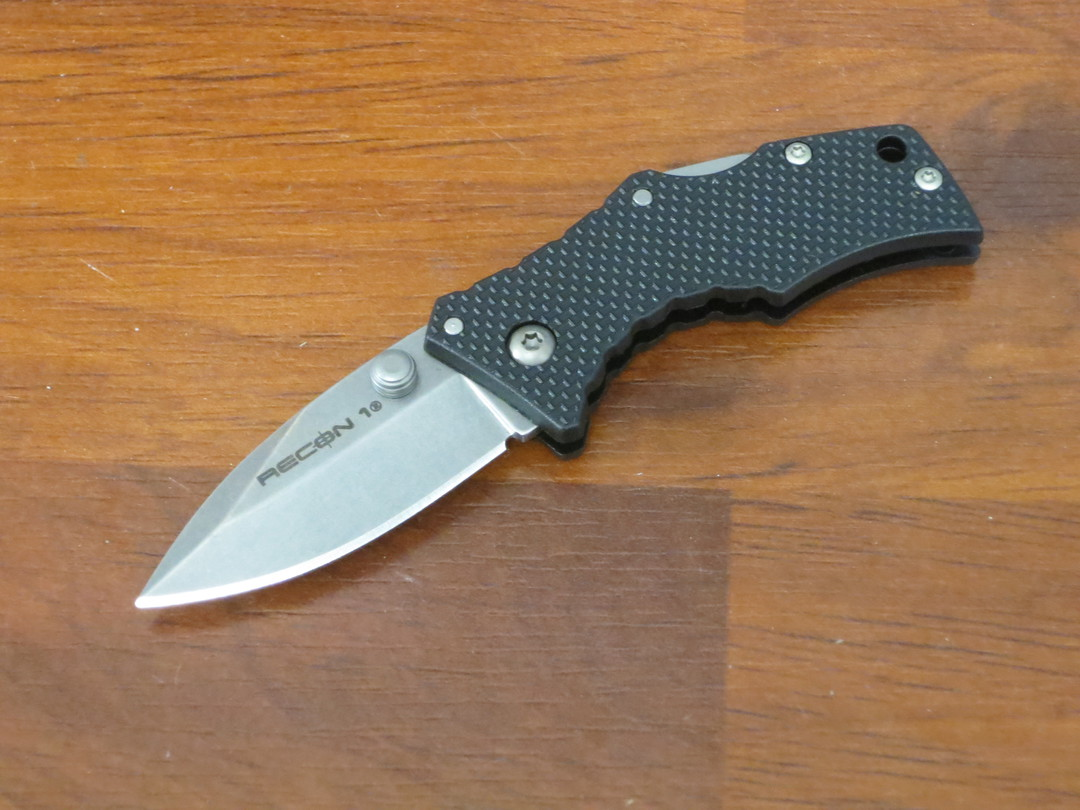 Cold Steel Micro Recon 1 Spear Point Folding Knife Stonewashed Blade image 0