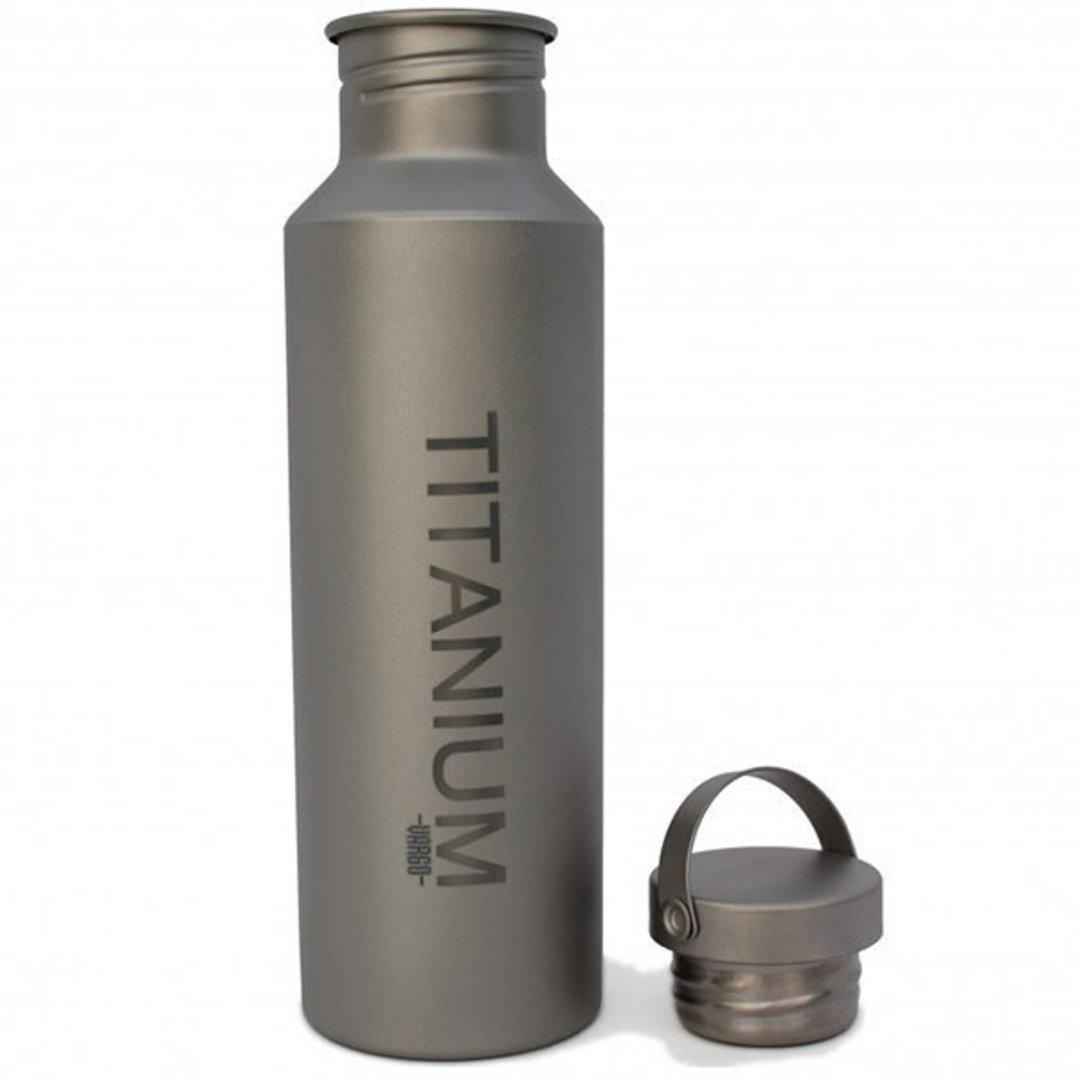 Vargo Titanium Water Bottle w/TI Lid, 650 ml image 0