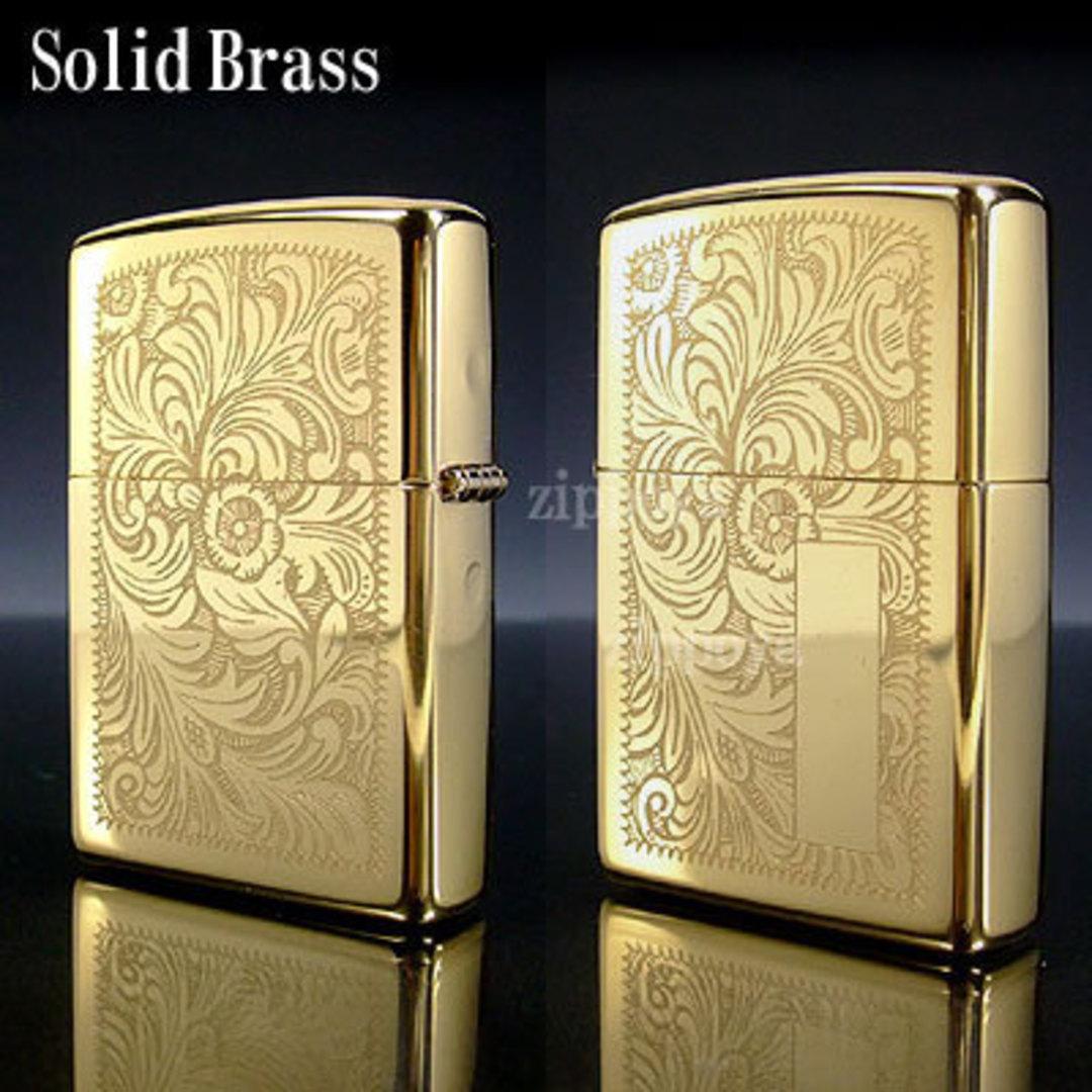 ZIPPO Venetian High Polish Brass Lighter image 0