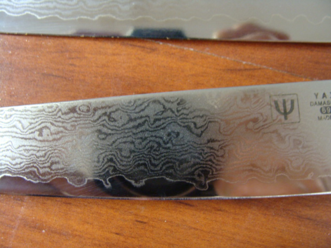 RAN Japanese DAMASCUS 3PCS KNIFE SET image 3