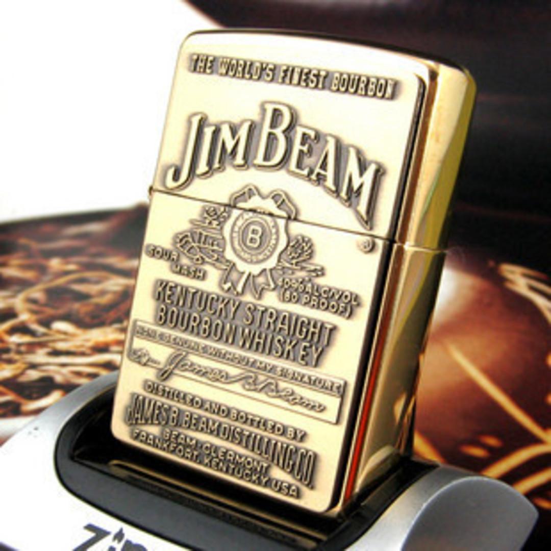 Zippo Jim Beam Emblem Brass Lighter image 0