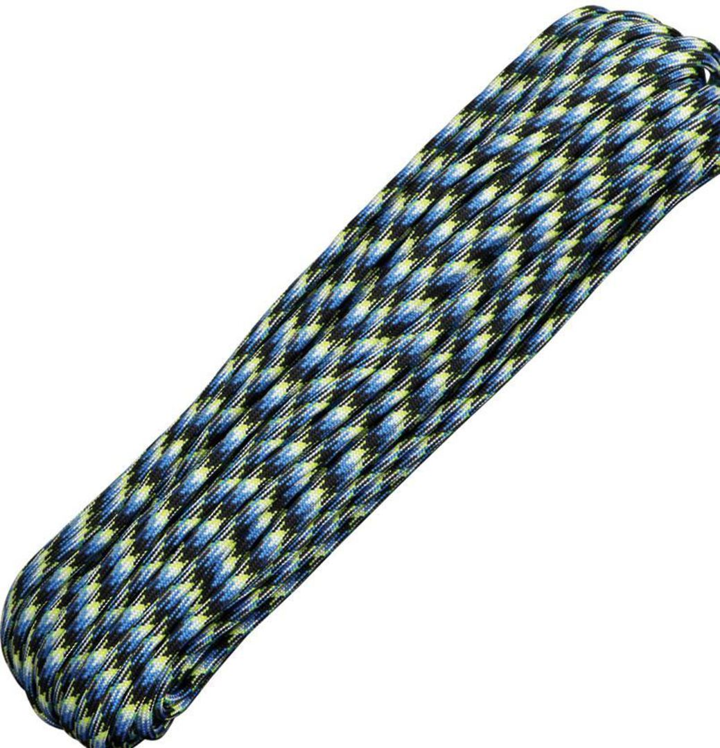 100ft 550 Parachute Cord/Paracord - Blue Snake image 0