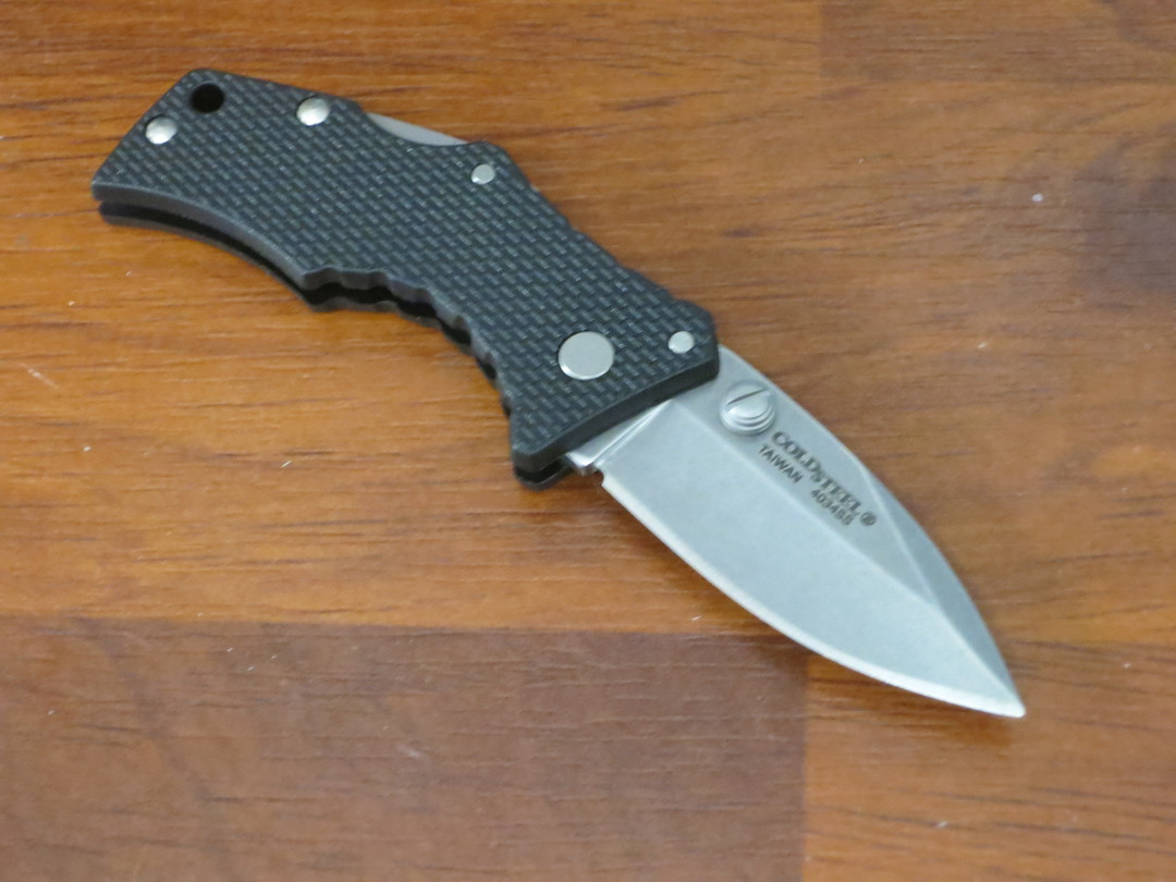 Cold Steel Micro Recon 1 Spear Point Folding Knife Stonewashed Blade image 1