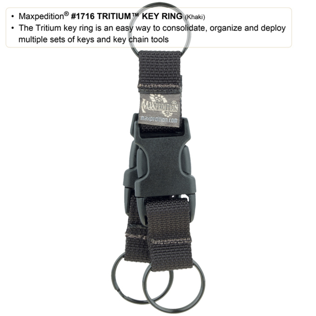 Maxpedition TRITIUM™ KEY RING - Black image 1