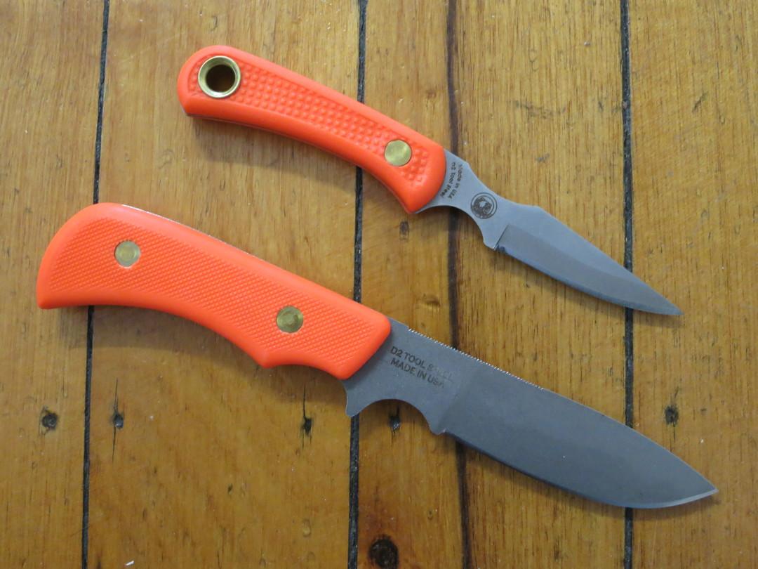 Knives of Alaska Trekker Series Elk Hunter/Cub Bear Combo - Orange SureGrip - 201FG image 1
