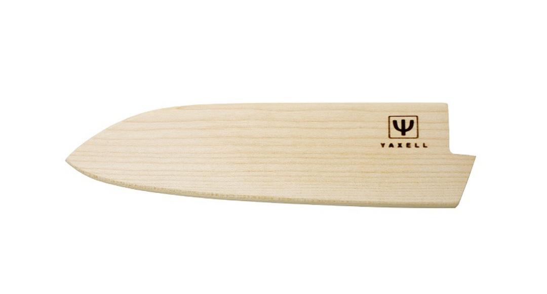 Yaxell Japanese Wooden Katana Sheath, maple for Santoku image 0