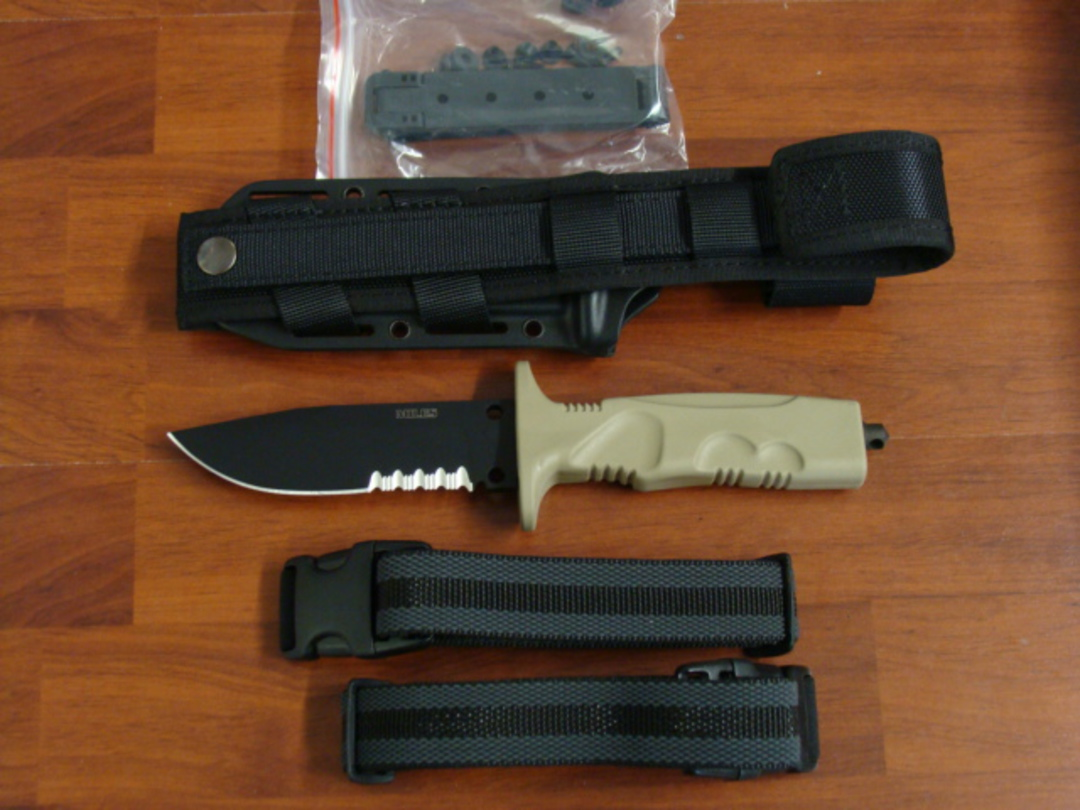 FOX Knives Miles Combat Trooper Knife Light Version W/Leg Strap FX0171103 image 4