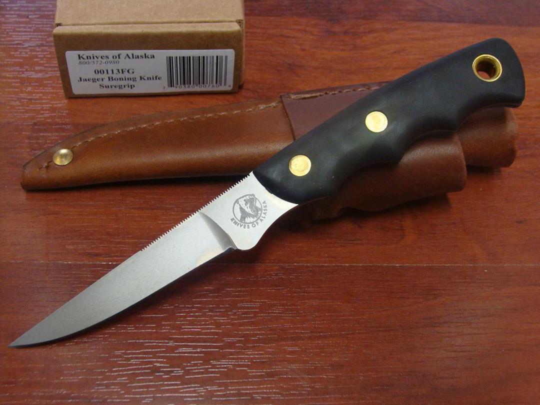 Knives of Alaska Jaeger Boning Knife Suregrip Knife  D2- 113FG image 0