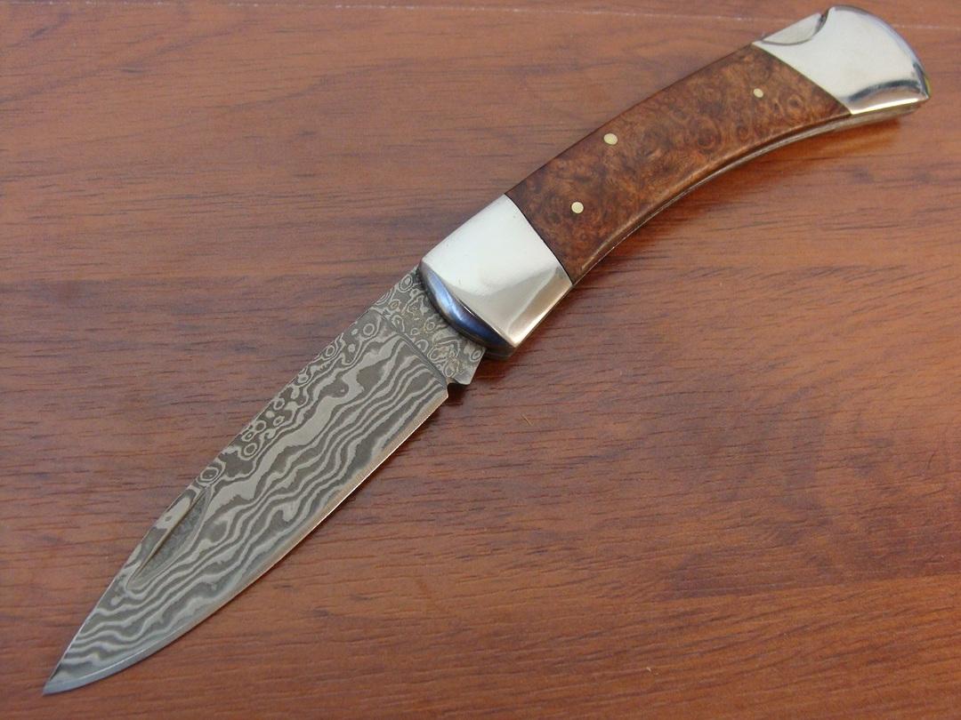 Boker Magnum Lord Damascus Folding Knife image 0