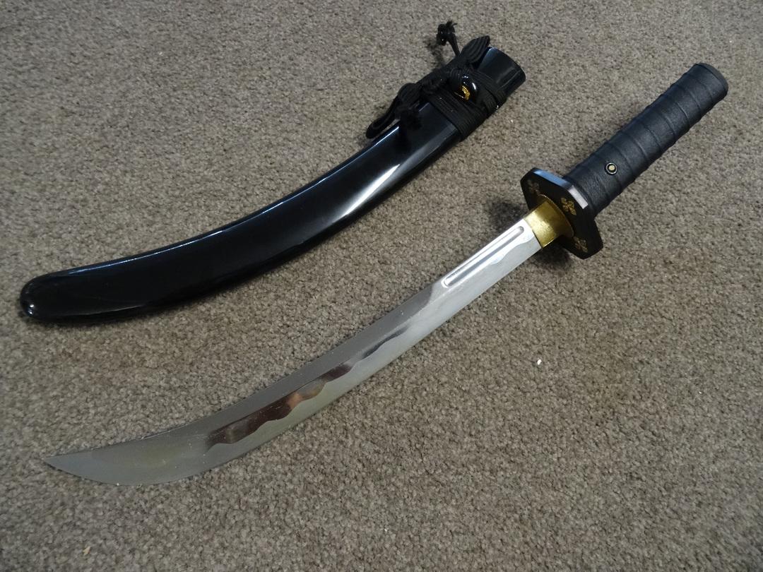 Cold Steel Steven Seagal Signature Wakizashi Damascus Blade, Lacquered Wood Scabbard image 0