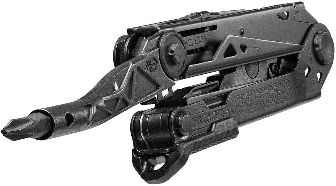 Gerber Center-Drive Black Multi-Tool with M4 Bit Set, Black Berry-Compliant Sheath image 2