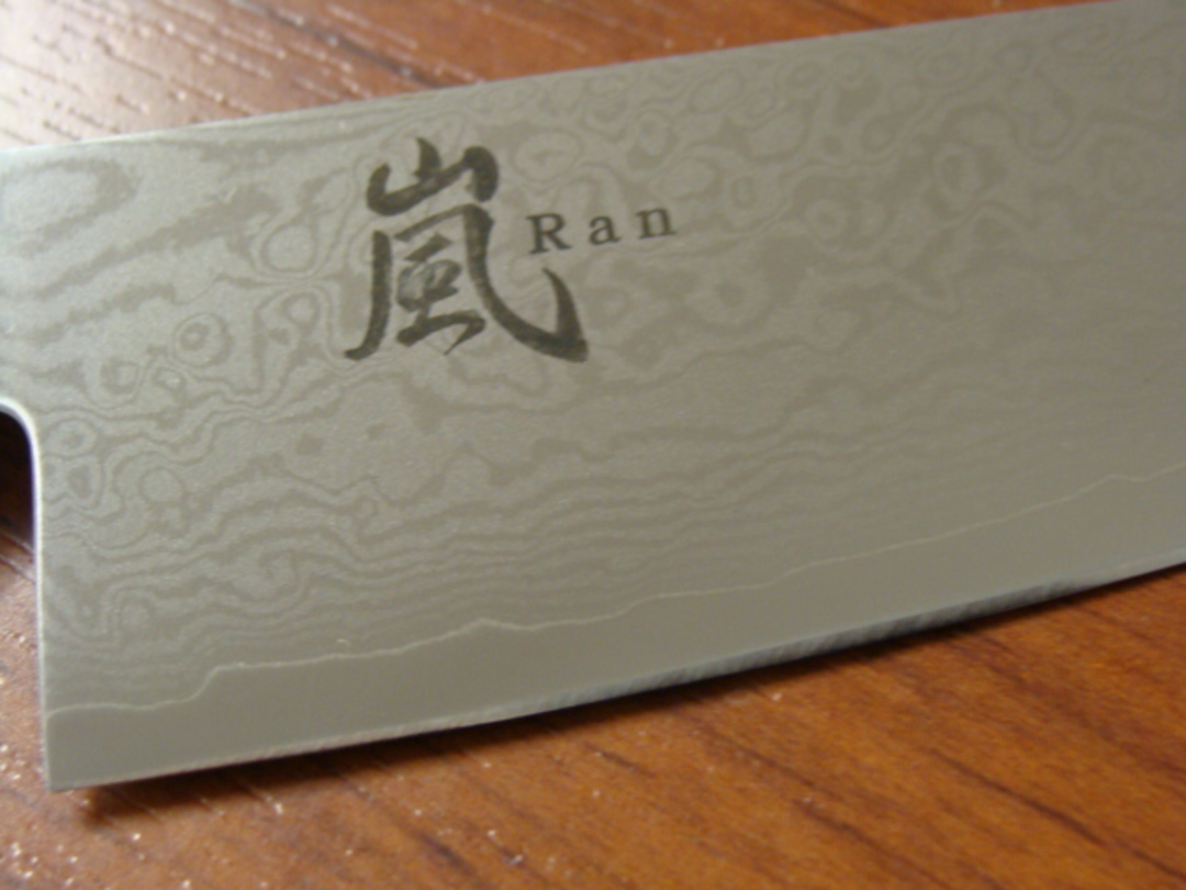 RAN Japanese DAMASCUS SMALL SANTOKU KNIFE 125mm image 1