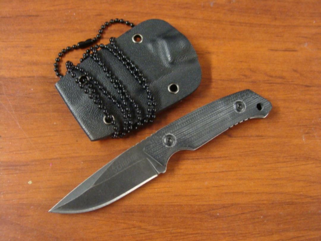 Schrade Mini Tactical Fixed G10 Handles Kydex Sheath image 0
