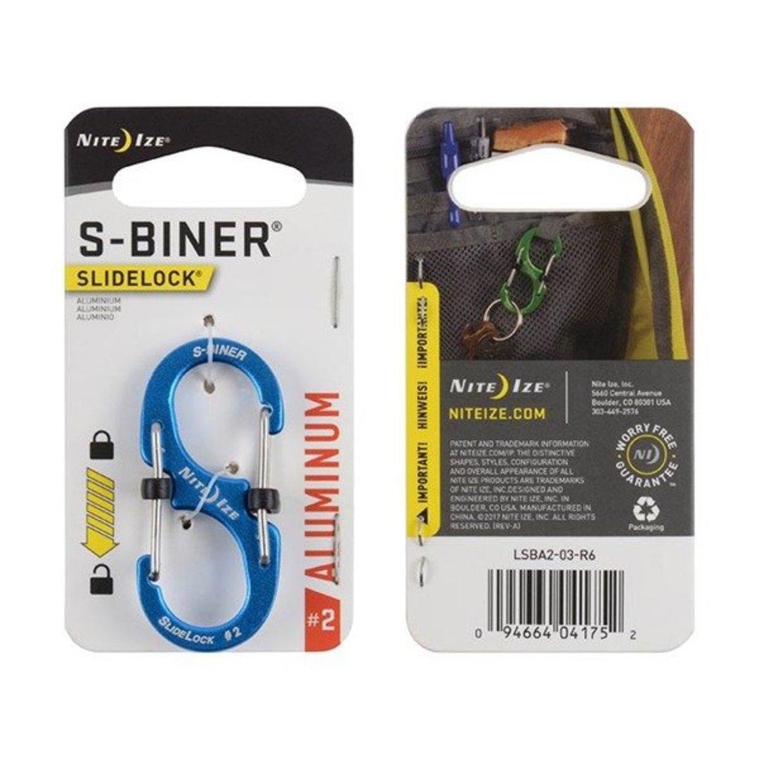 Nite Ize S-Biner Slidelock #2 Blue image 0