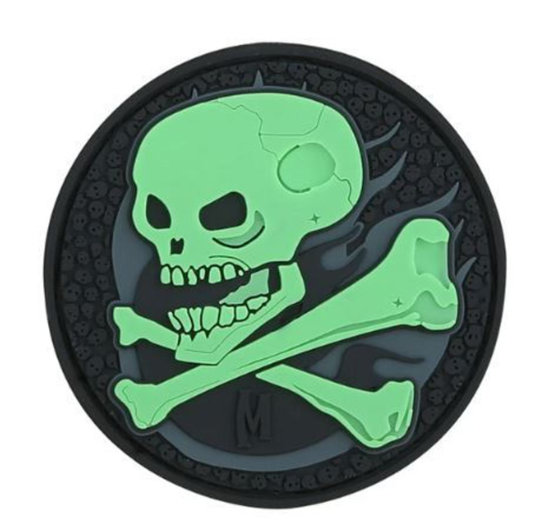 MAXPEDITION SKULL MORALE PATCH GLOW image 0
