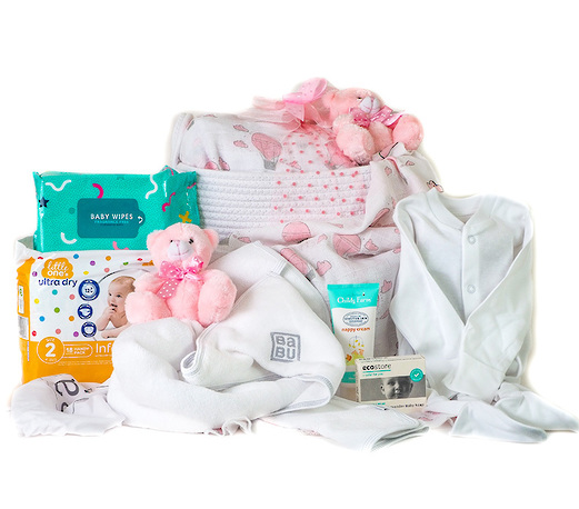 The Complete Baby Gift Hamper in Pink image 0