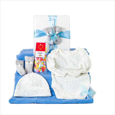 Tiny Toes Baby Gift - Blue image 0