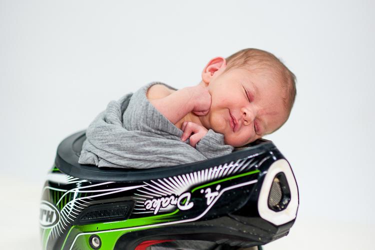 cute baby in bike helmet