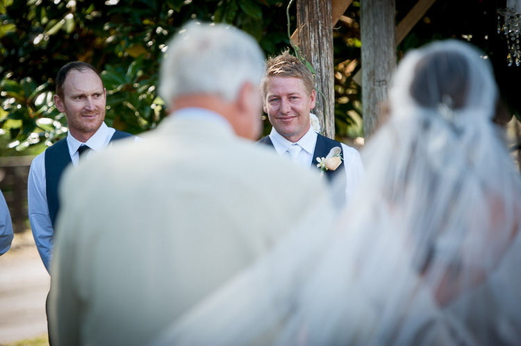 wedding ceremony bride groom wedding party Nelson NZ photography