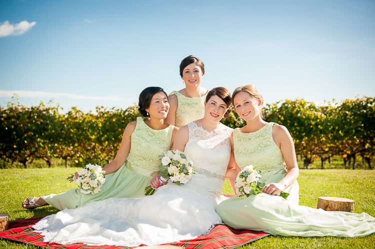 bride bridesmaids bridal party nelson nz wedding photos bridal party sandra johnson boutique photography