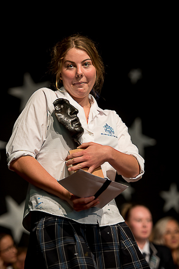 Nelson College for Girl\'s Senior Prize giving art trophy