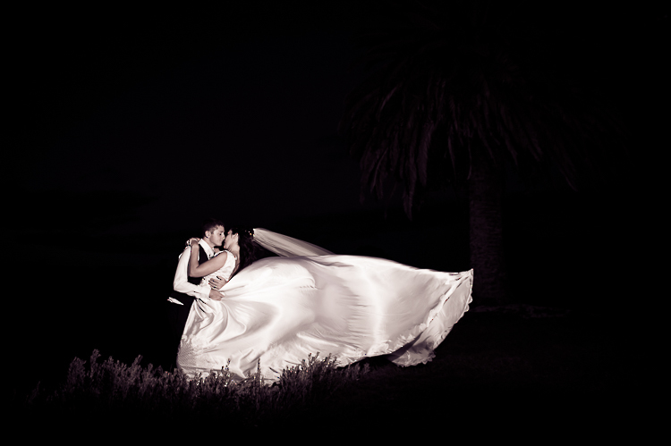 bride and groom love wedding nelson nz reception sandra johnson boutique photography night