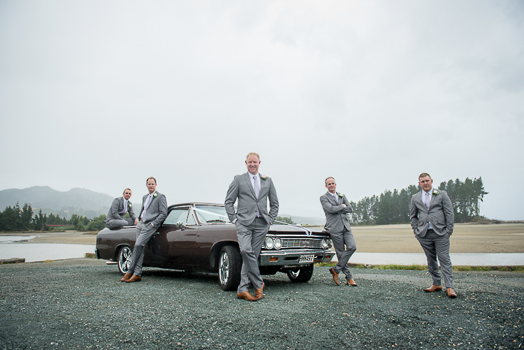 groomsmen guys bridal party weddings new zealand nelson boutique photography sandra johnson cars