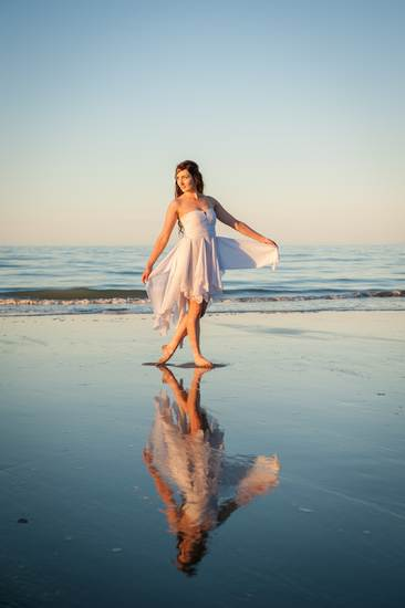 boutique photography engagement posing101 rabbit island beach sunset reflection