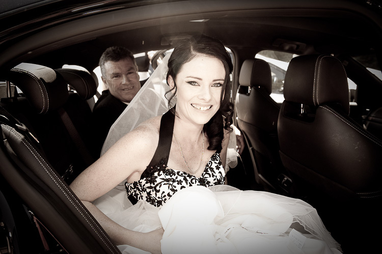 wedding ceremony bride groom wedding party sandra johnson boutique photography nelson nz