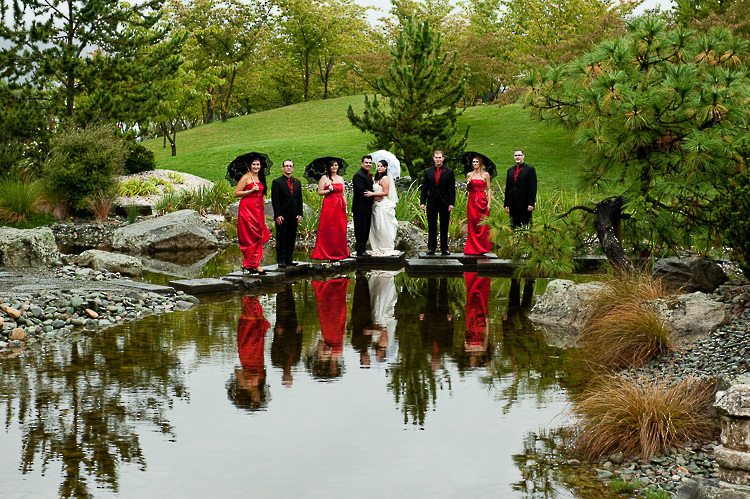 bride bridesmaids bridal party nelson nz wedding photos bridal party Miazu gardens