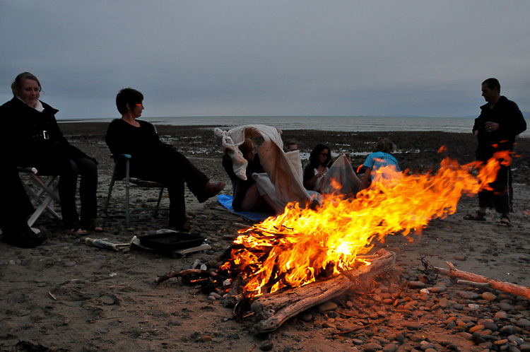 rite of passage fire on beach