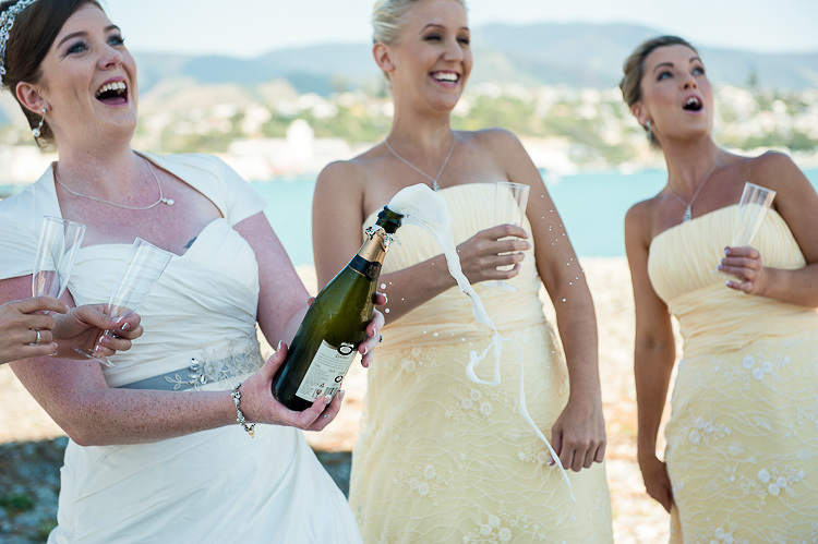 bride bridesmaids bridal party nelson nz wedding photos bridal party bubbly champagne