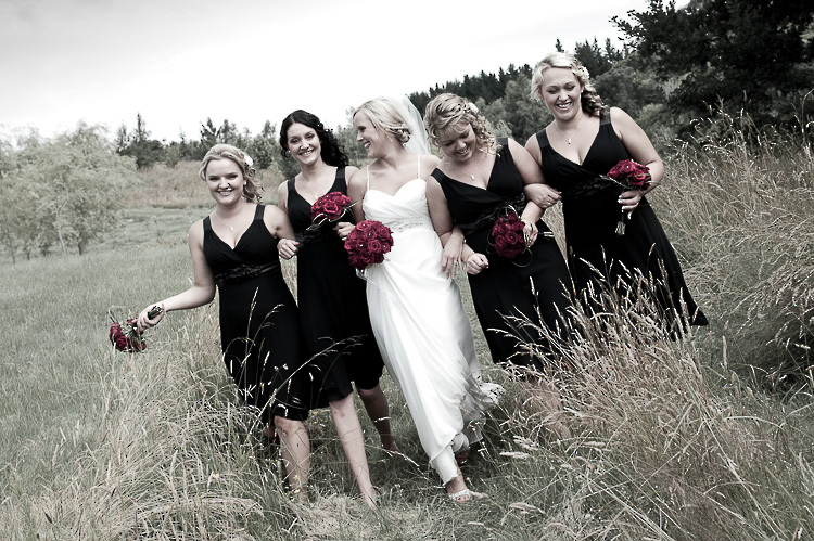 bride bridesmaids bridal party nelson nz wedding photos bridal party Playhouse