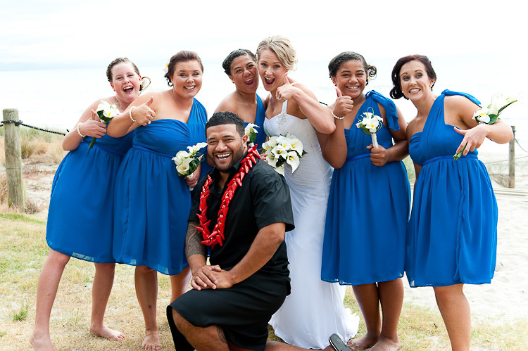 bride bridesmaids bridal party nelson nz wedding photos bridal party