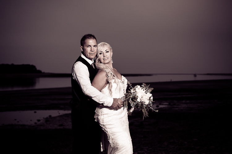 bride and groom love wedding nelson nz reception sandra johnson boutique photography monaco beach night