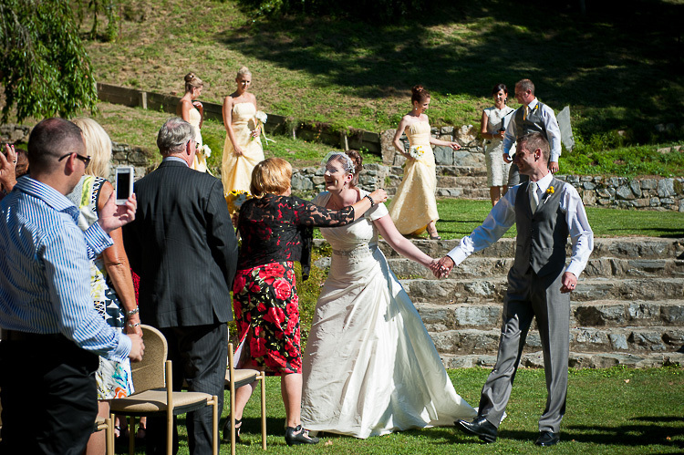 wedding ceremony bride groom wedding party Nelson NZ photography Fairfield House