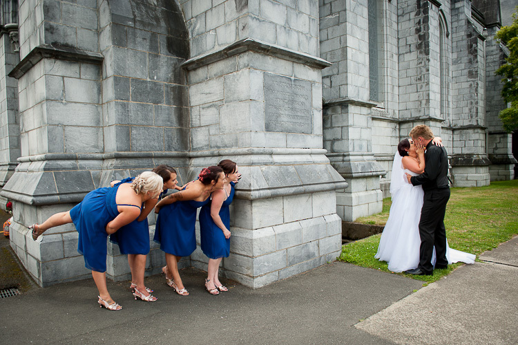 bride bridesmaids bridal party nelson nz wedding photos bridal party cathedral church peep