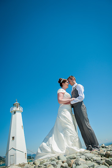 bride and groom love wedding romance glamour nelson nz boulder bank light house