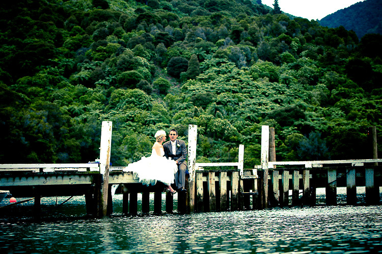 bride and groom love wedding romance glamour nelson nz marlborough sounds