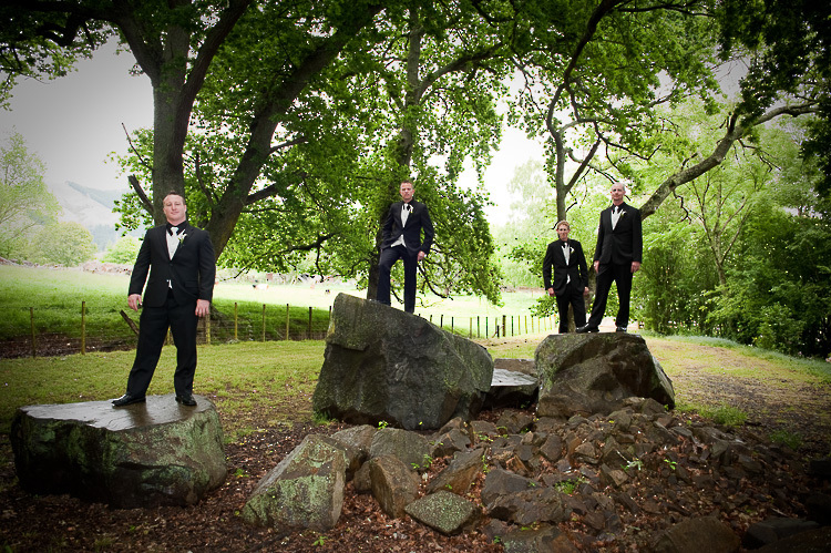 wedding photo groomsmen groom bridal party nelson nz