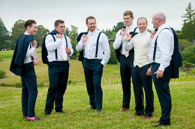 groomsmen guys bridal party weddings new zealand nelson boutique photography sandra johnson