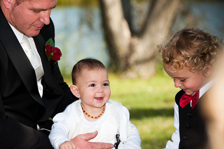 wedding ceremony bride groom wedding party sandra johnson boutique photography nelson nz cute kid
