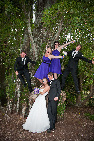 bride bridesmaids bridal party nelson nz wedding photos bridal party Isel Park