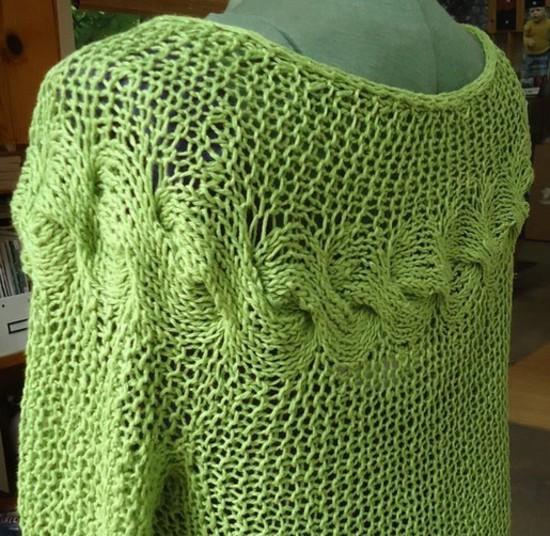 Hemp Cable Cardi - Hemp Knitting Pattern image 2