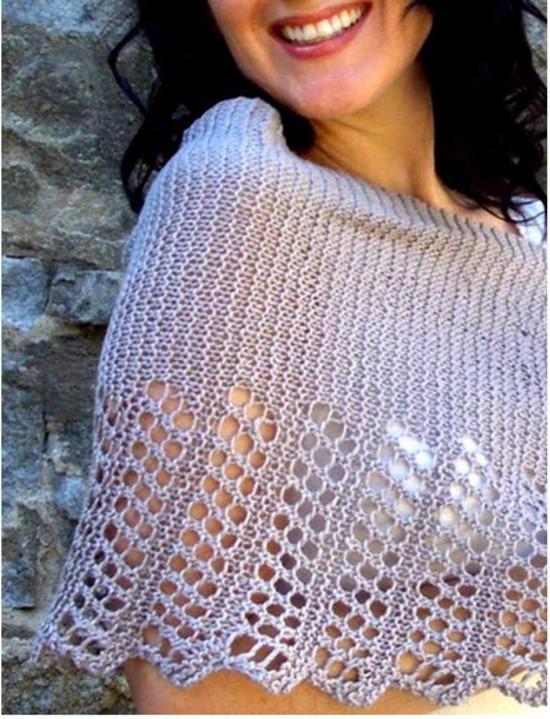 Cool Hemp Ponchette -  Small Hemp Knitting Project image 0