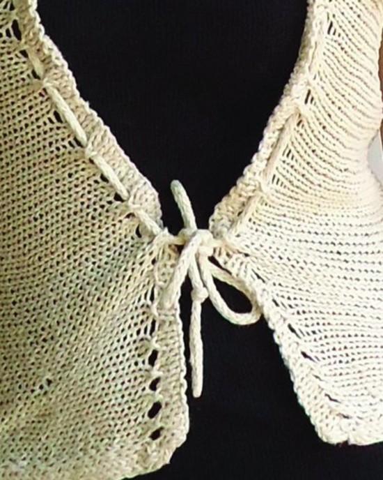 Eyelet Ease Hemp Knitting Pattern image 2