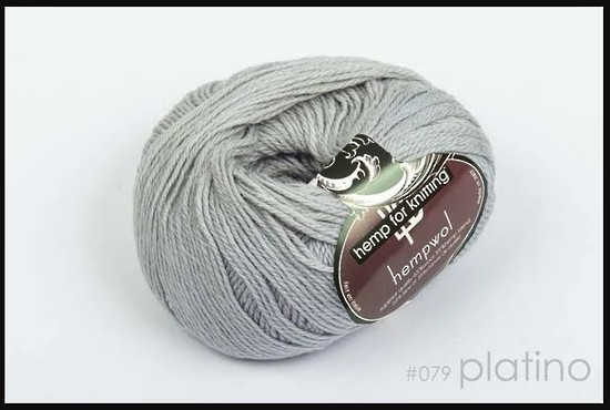 65% Wool and 35% Hemp - Double Knitting / 8 Ply Weight  - Platino image 0
